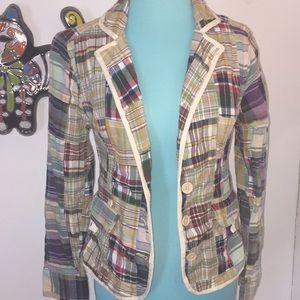 amazing BILL BLASS casual patchwork blazer Small